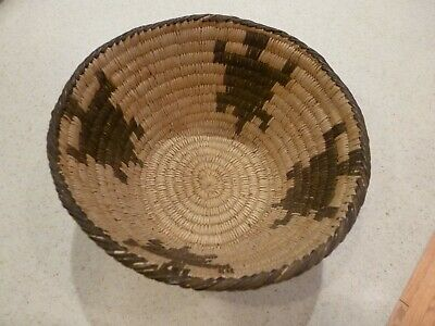 Vintage Tohono O'Odham Papago Coiled Gila Basket 6-3/4 in Wide x 3-1/2 in High