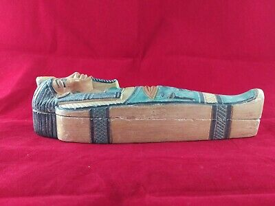Ancient Egyptian Antiquities coffin of God Tutankhamen ( 1332 – 1323 BC)