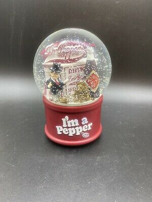 Vintage Dr. Pepper Snow globe snowglobe music box I'm a Pepper