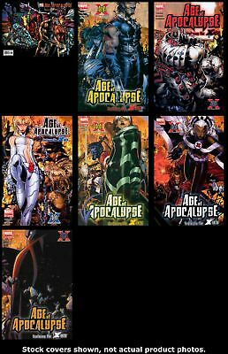 X-Men: Age of Apocalypse One Shot 1 1 2 3 4 5 6 Complete Set Run Lot 1-6 VF