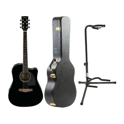 Ibanez PF15ECE PF Dreadnought Acoustic-Electric Cutaway Guitar with Case Bundle