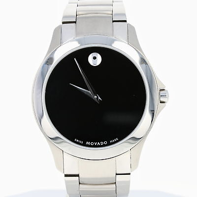 Movado Men's Watch 50.1.14.1351 New Battery Box & Papers Swiss Stainless Steel