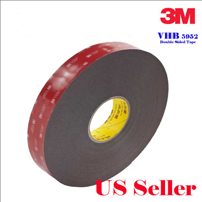 Genuine 3M VHB #5952 Double-side Mounting Tape Adhesive Tape Automotive 6M/20FT