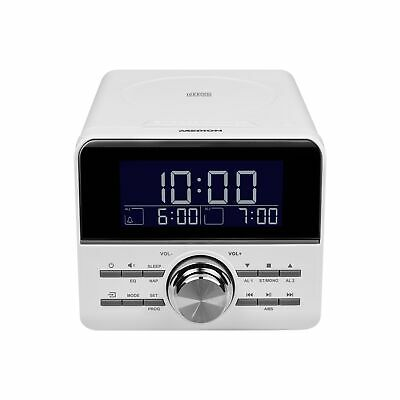 MEDION E66428 CD-Uhrenradio PLL UKW Radio negatives Display CD Player weiss