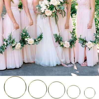 Ornament Party Supplies Gold Color Wreath Metal Iron Bridal Garland Floral Hoop