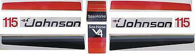 Johnson Outboard Hood Decals 1977/1979 V4 115/140 hp