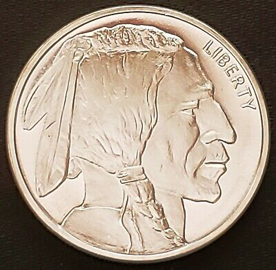 Golden State Mint Indian Head Buffalo 1 oz 999 Silver Round GSM