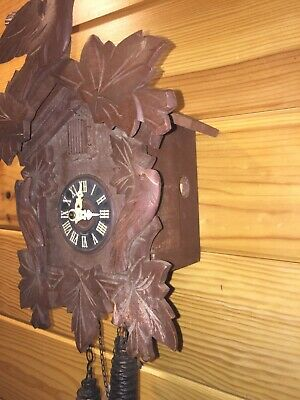 Used Black Forest Cuckoo Clock,1Day,for Repair or to Restore to Nice Condition