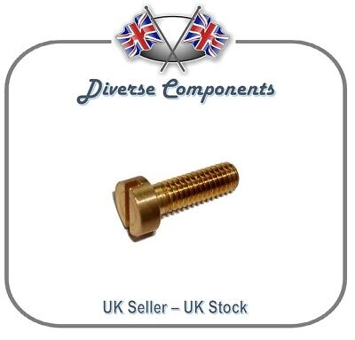 """Brass Slotted Cheese Head Screw 8BA x 5//16/"""" Pack of 10"""