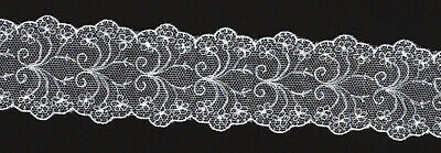 1.75 inch wide White cotton embroidered lace trim 13yds (2583)