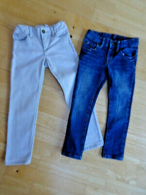 GAP girls 2 PACK super skinny / skinny blue grey jeans AGE 5 YEARS EXCELLENT CON