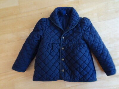 RALPH LAUREN POLO girls navy blue quilted jacket coat AGE 5 YEARS authentic