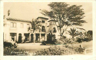 Automobiles El Cordova Hotel Coronado California 1937 RPPC Photo Postcard 5785