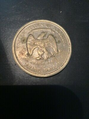 1876 US Trade Dollar Silver Coin