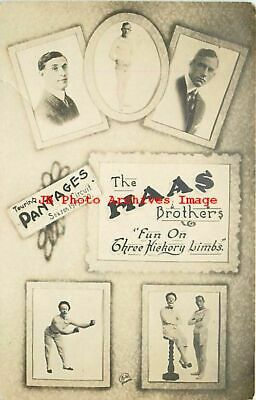 Advertising Postcard, RPPC, Pantages Theatre, Haas Brothers, Clown