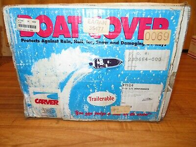 NOS Boat Cover Trailerable V-16 I/O Performance Carver Industries 87116