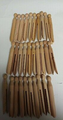 Wooden Clothes Pins /Crafts/Round Head  Lot of 30