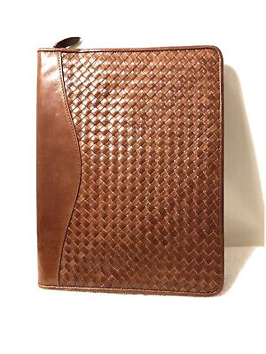 Scully Leather Zipper Portfolio (Genuine Leather Notepad)