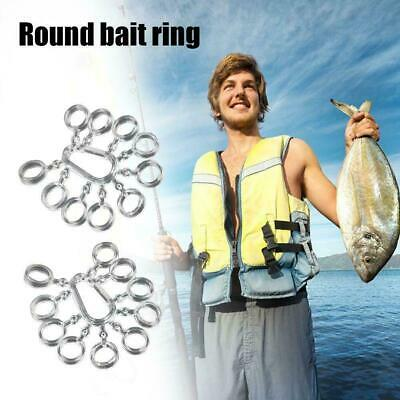 50pcs Clear Carp Coarse Fishing Pellet Boilies Bait Tackle Hot Bands Y3B7