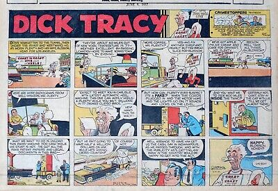 Dick Tracy by Chester Gould - half-page full color Sunday comic - June 9, 1957