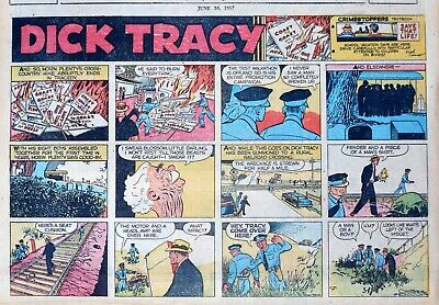 Dick Tracy by Chester Gould - half-page full color Sunday comic - June 30, 1957