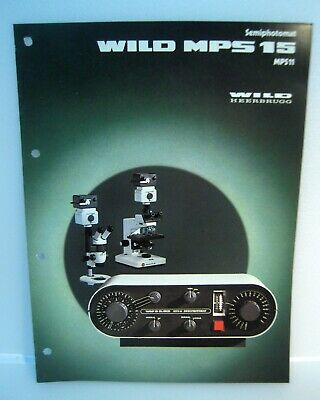 Wild Heerbrugg MPS15 MPS11 Semiphotomat Catalog Instructions Technical/En---M3