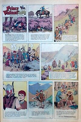Prince Valiant by Hal Foster - large full page color Sunday comic Dec. 15, 1963