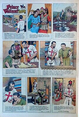 Prince Valiant by Hal Foster - large full page color Sunday comic April 7, 1957