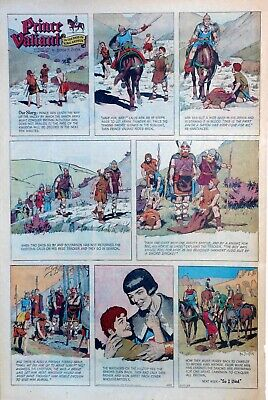 Prince Valiant by Hal Foster - large full page color Sunday comic Dec. 22, 1963