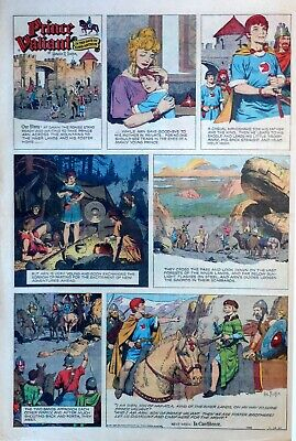 Prince Valiant by Hal Foster - large full page color Sunday comic Nov. 24, 1957