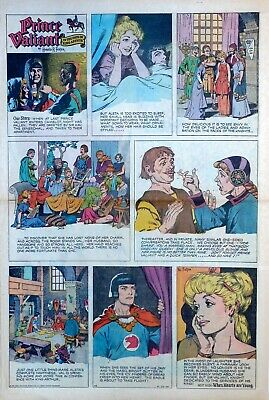 Prince Valiant by Hal Foster - large full page color Sunday comic June 22, 1958