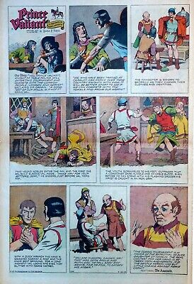 Prince Valiant by Hal Foster - large full page color Sunday comic March 22, 1959