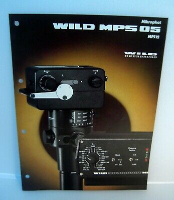 Wild Heerbrugg MPS05 MPS12 Mikrophot Catalog Instructions Technical/En---M3