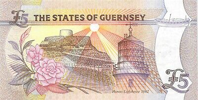 States Of Guernsey 5 Pounds Note 2000 Unc P-60