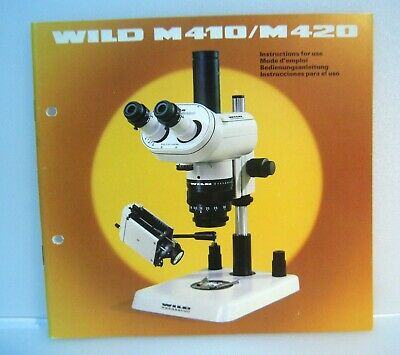Wild Heerbrugg Macroscopes Models M410/M420 Instruction Manual use/EN,Ger,Fr,Esp