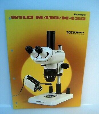 Wild Heerbrugg Macroscopes Models M410/M420 Catalog Instruction Guide/English -M