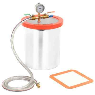 vidaXL Vacuum Chamber Stainless Steel 11.42L for Degassing Operation Accessory~