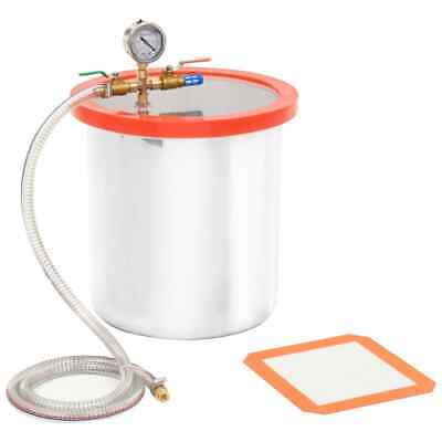 vidaXL Vacuum Chamber Stainless Steel 18.9L for Degassing Operation Accessory~