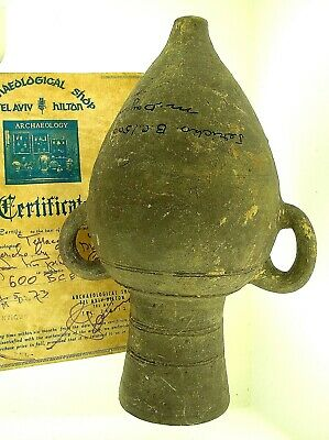 Ex. Moshe Dayan Collection - Bronze Age Jericho Amphora-Provenance & Certificate