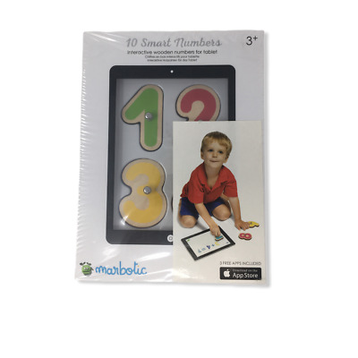 Marbotic 10 Smart Numbers - Interactive Wooden Numbers for Tablet
