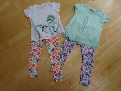 ZARA girls 4 pack leggings t shirt tops AGE 5 - 6 / 6 YEARS EXCELLENT COND