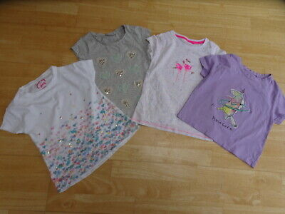 NEXT girls 4 pack summer t shirt bundle white grey purple AGE 5 - 6 YEARS EXCELL