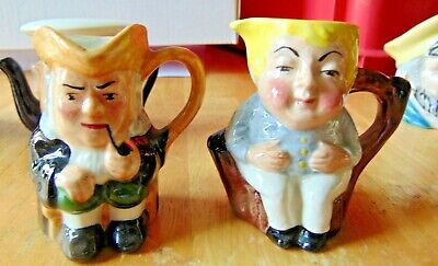 Two Collectable Artone Mini Character Toby Jugs