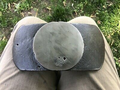 Antique Blacksmith Lap Anvil Leather workers Artisan Tool 6 lb.Iron Cool ! NR