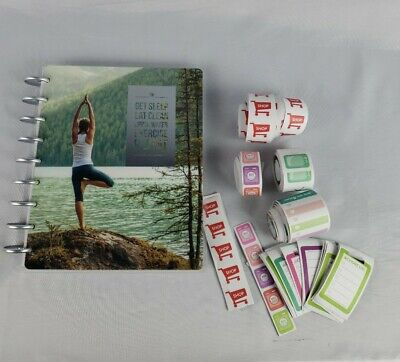 Create 365 Happy Planner 12 Month Undated Fitness Log and Stickers lot