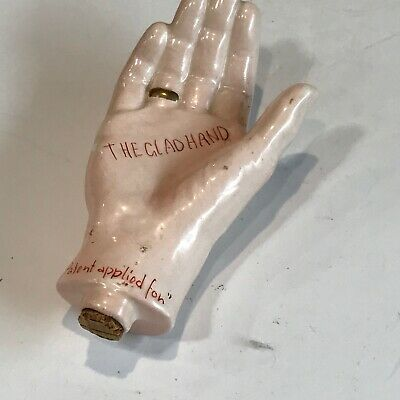 """The Glad Hand """"Patent Applied For"""" Flask Made In Usa Early 1900'S?"""