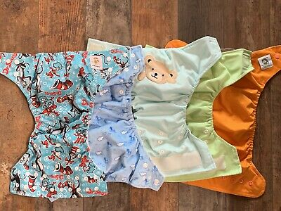Lot Of 5 Baby Boy Cloth Diaper Covers