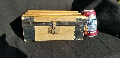 Antique Late 1800'S  Early 1900'S  Child's Wood Doll Trunk Victorian 10""