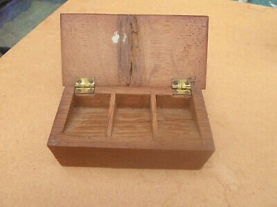 Victorian Souvenir Winchester Cathedral Oak 1086-1896 Carved Stamp Box Holder