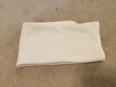 Vintage Carters White Stretchy Thermal Waffle Weave Cotton Baby Blanket